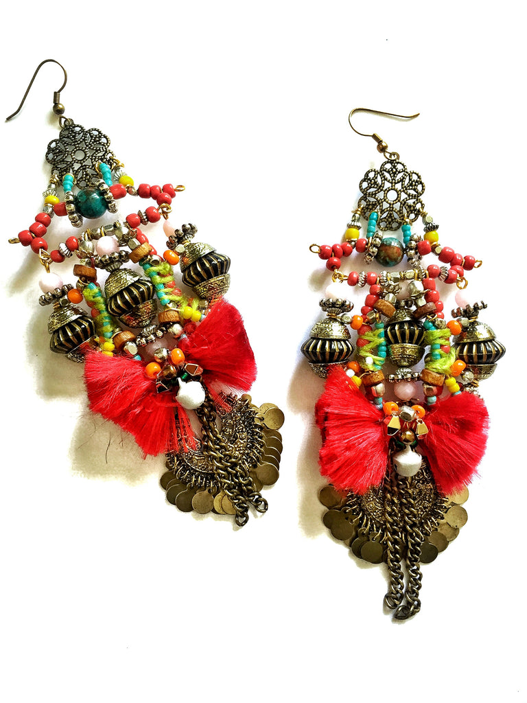 Isidora Beaded Statement Earrings Anita Quansah London