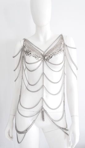 Bennu Silver-Tone Body Chain Anita Quansah London