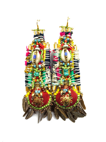 Adsila Embellished Charm Earrings