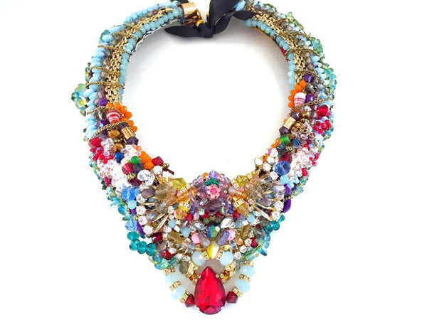 Adilah Multi-Stone Beaded Necklace