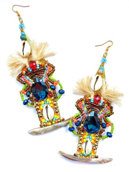 Kesara Beaded Crystal Earrings