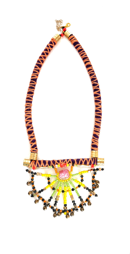 Mohini Beaded Embellished Cord Necklace