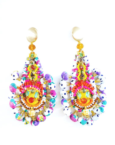 Hokulani Beaded-Embellished Drop Earrings Anita Quansah London