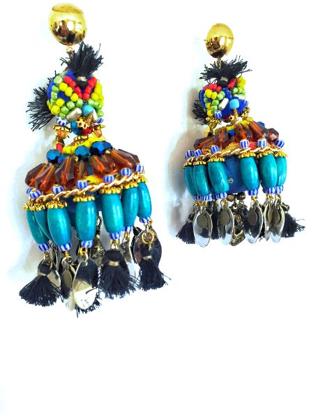Bijou Beaded Chandalier Earrings