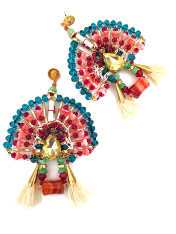 Elora Beaded Statement Earrings
