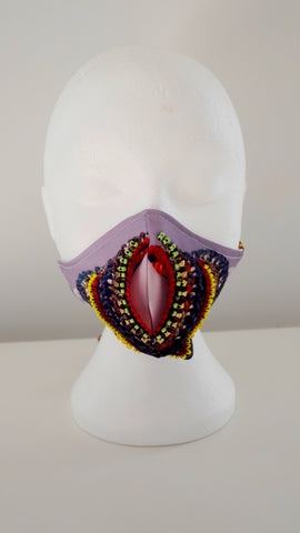 LIMITED EDITION INA PRINT BEADED FACE MASK