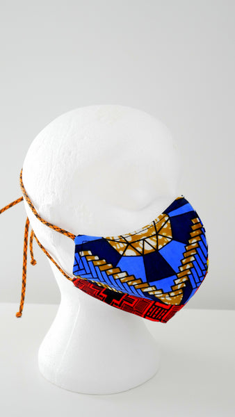 Mixed Print Patchwork Face Mask