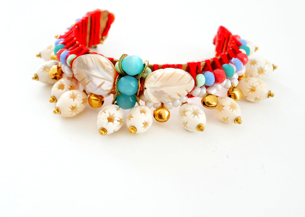 Ngozi Mother of pearl and Chalcedony  Bracelet