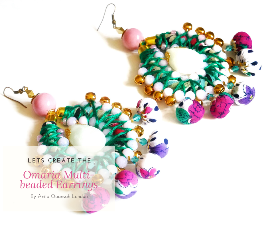 Omaria Beaded Drop Earring Jewellery Making Kit