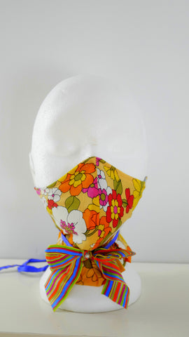 Reusable Washable Vintage Floral Print Facemask