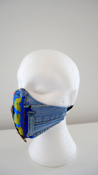 Reusable, Washable, Distressed Denim IKEA Face Mask