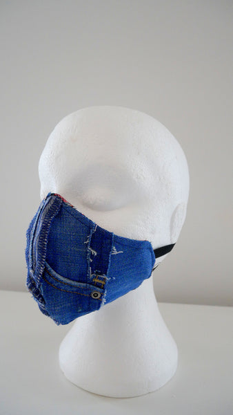 Reusable, Washable, Distressed Denim Not Your BAE Face Mask