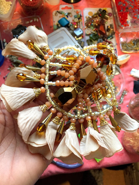 Shani Beaded Flower Hair Comb  By Anita Quansah London