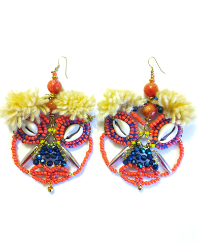 Taya Beaded Mask Earrings