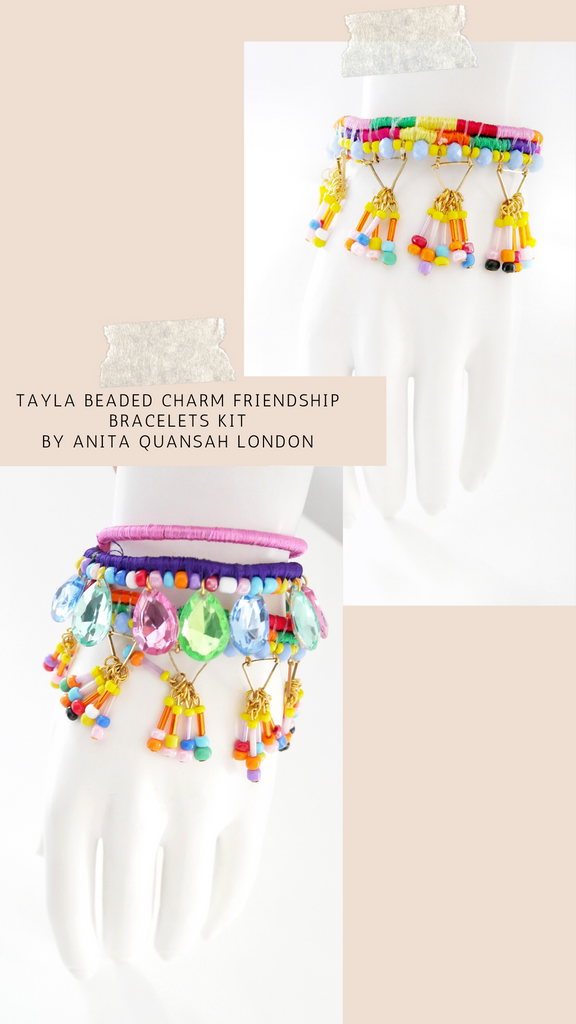 Tayla Beaded DIY Charm Friendship Bracelets Kit