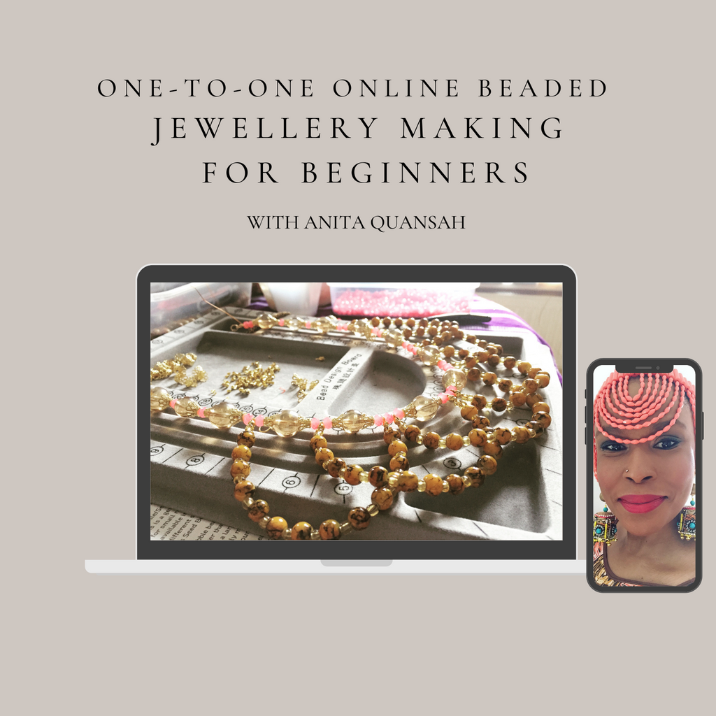 Virtual One-To-One Beaded Jewellery Workshop Beginners