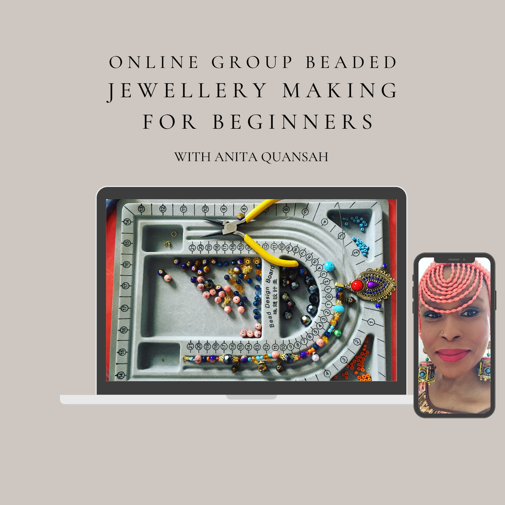 Virtual Group Beaded Jewellery Workshop Beginners Level
