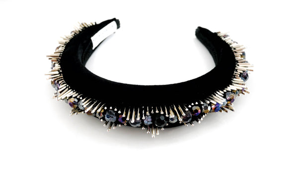 Vesta Beaded Spike Halo Headband