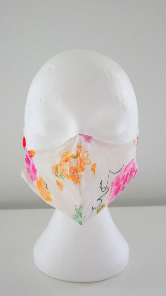 WASHABLE, REUSABLE FLORAL PRINT FACE MASK