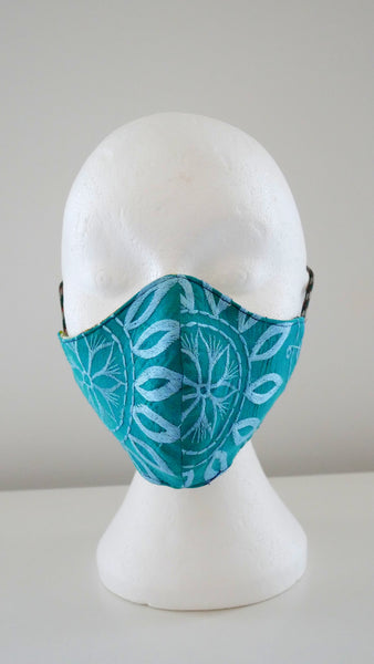 Washable Reusable Embroidery Face Mask With A Filter Pocket