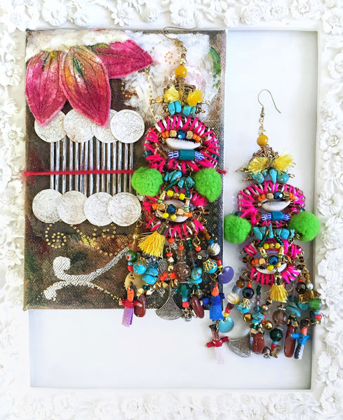 Itzel Beaded Statement Earrings
