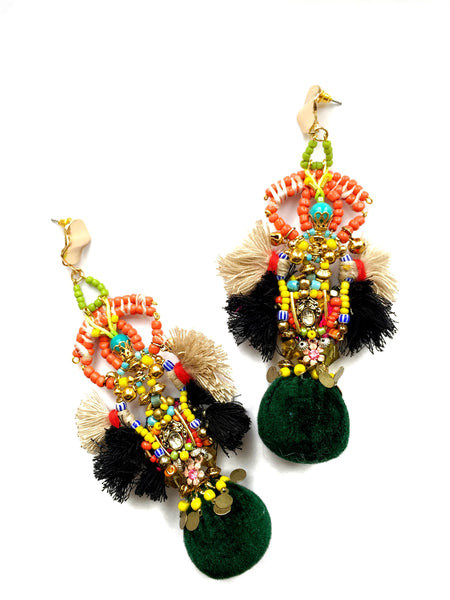 Izzy Embellished Drop Earrings