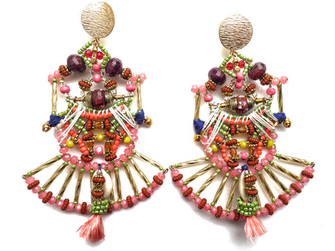 Melita Beaded Statement Earrings