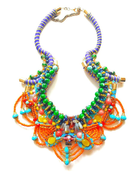 Sidra Beaded Statement Necklace
