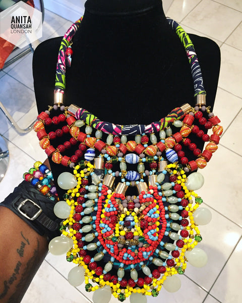 Lamia Beaded Gemstone Necklace