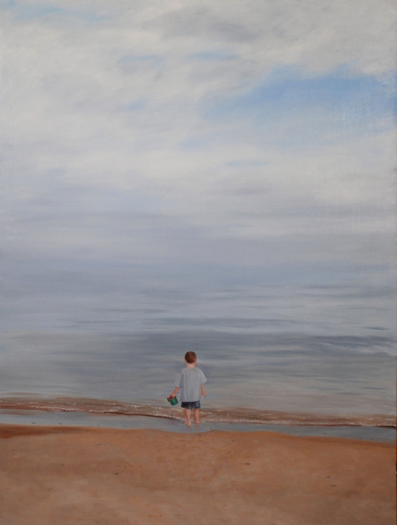 Finding Water: Boy with a bucket Lake Michigan | Childhood Memories