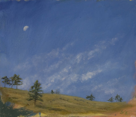 Moon Setting Over Boulder Hills #3