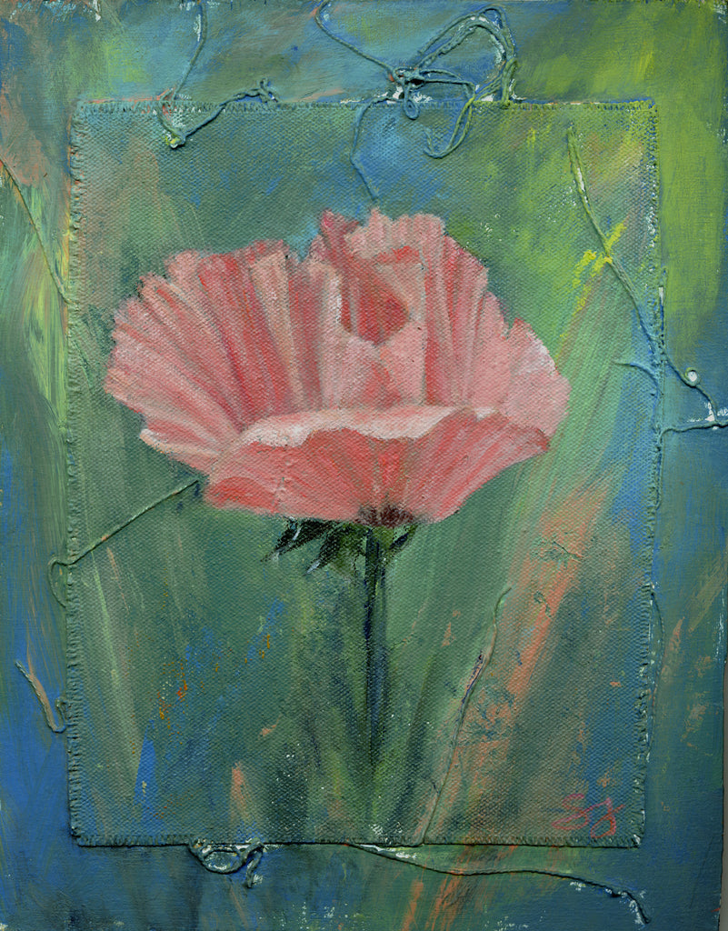 Pink Poppy Painting