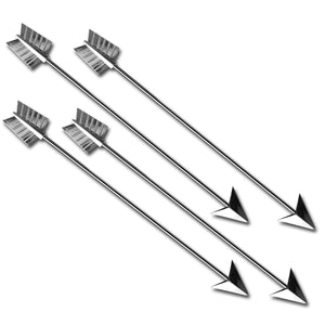 Tall Metal Arrow Stirrers - 4 Pc Set w/Gift Box