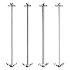 Deluxe Tall Metal Anchor Stirrer - 4 Pc Set