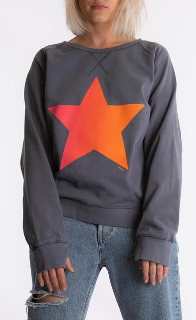 Denim Sweatshirt - Ombre Star