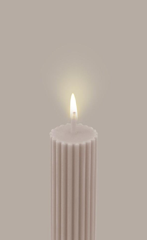 Column Pillar Candle - Beige IN STORE PICK UP ONLY