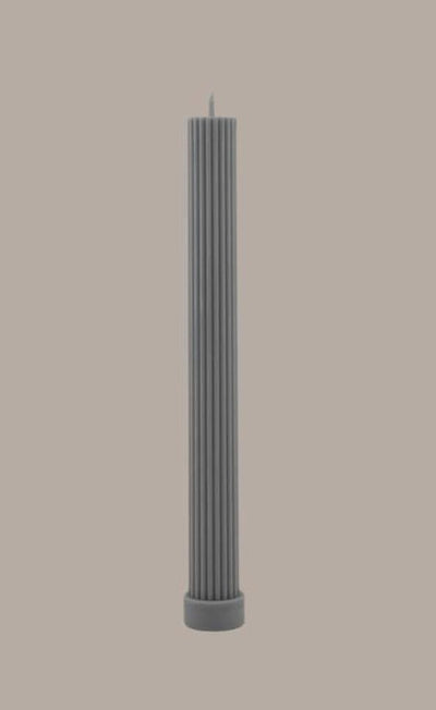 Column Pillar Candle - Grey