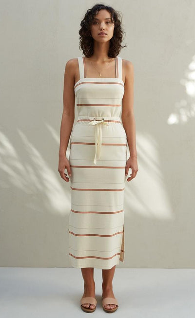 Lara Ribbed Skirt - Stripe