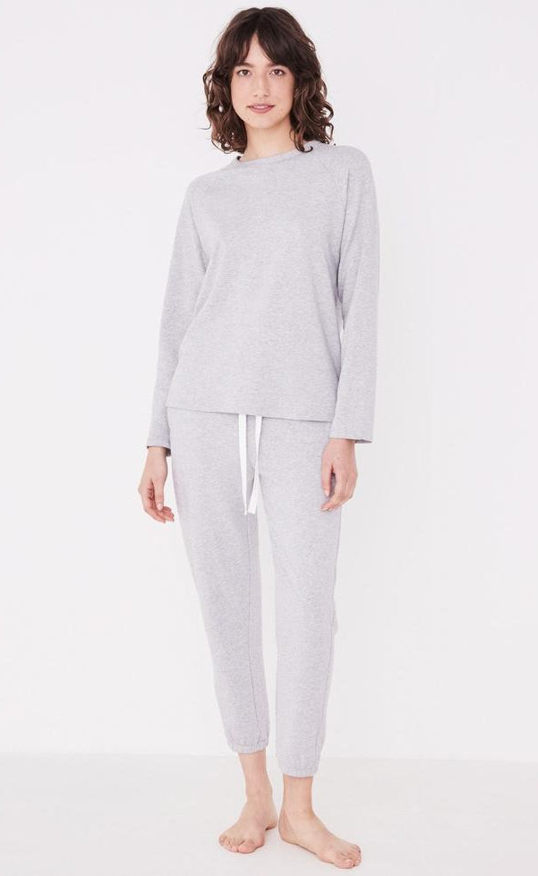 Kin  Fleece Top - Grey
