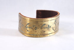 Seven Anchor Brass Cuff