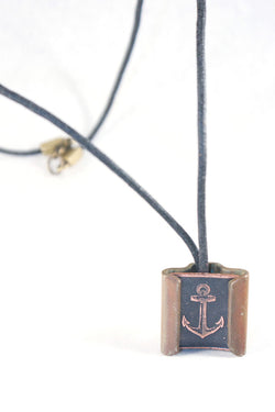 Anchor Slide Clasp Necklace