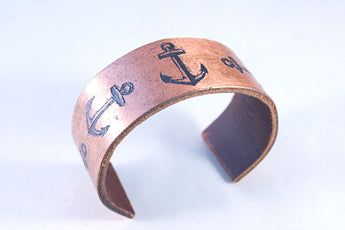 Five Anchor Copper Cuff