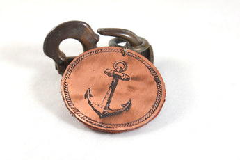 Knotted Anchor Keychain