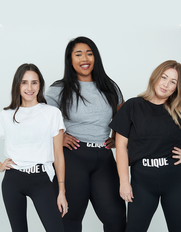 Clique Fitness Embossed Tee Black