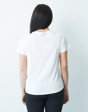 CLQ Embossed Tee - WHITE
