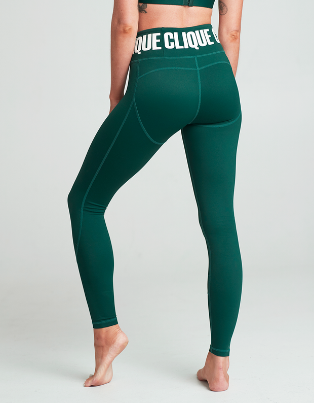Limited Edition Clique Compression Tights - FOREST - Short