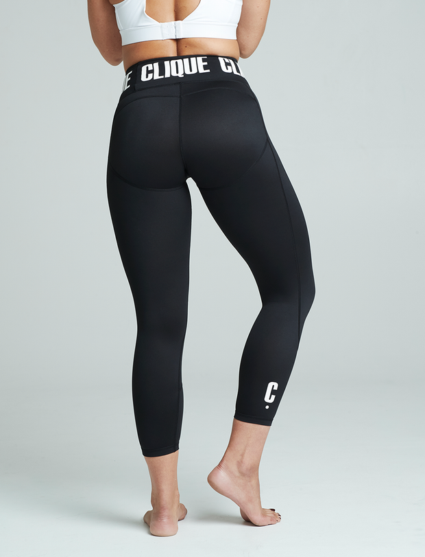 Clique Fitness Black Compression Fitness Tights 7/8