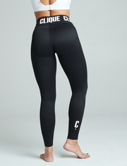 Clique Fitness Black Compression Fitness Tights