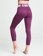 Limited Edition Clique Compression Tights - PLUM 2.0 - 7/8