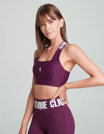 Limited Edition Super Support Bra - PLUM 2.0